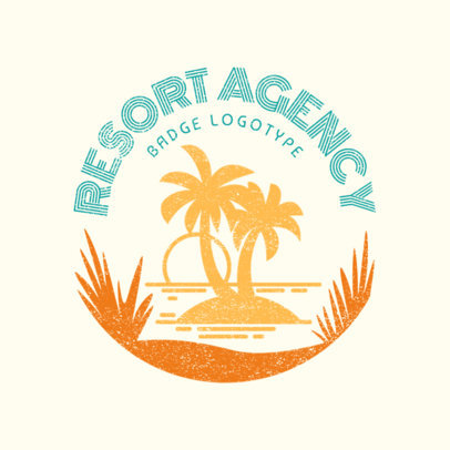 Custom Logo Maker for Travel Agency with Vacation Resorts 1202e