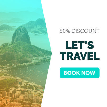 Travel Agency Online Banner Ad Maker 542