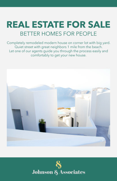 Online Flyer Template for Real Estate Offer 500