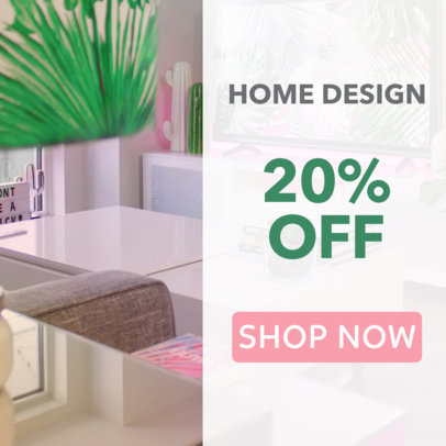 Online Ad Maker for Home Design Store 534