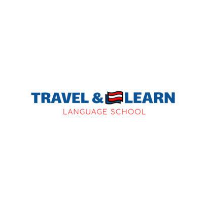 Language School Logo Design Tool 1364a