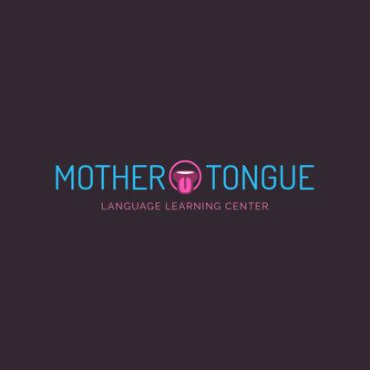 Custom Logo Maker for Language Learning Center 1364c
