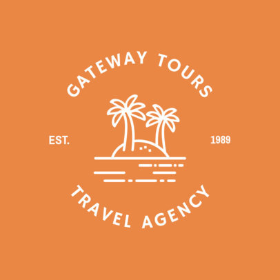 Logo Design Template for Cheerful Travel Agency 1280b