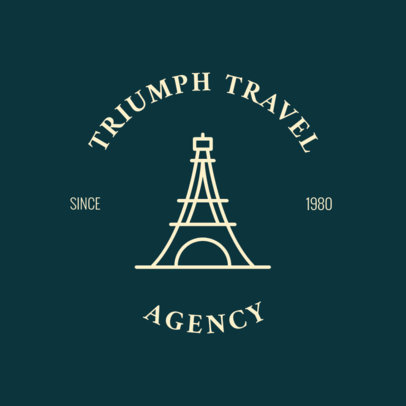 European Tours Travel Agency Logo Template 1280c