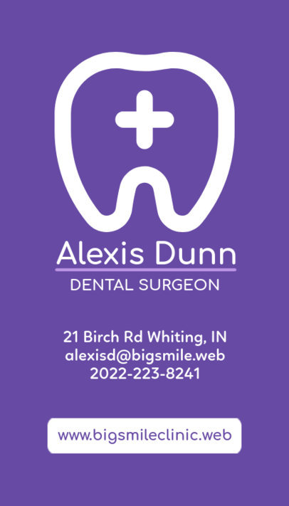 Great Business Card Template for Dentists 490d