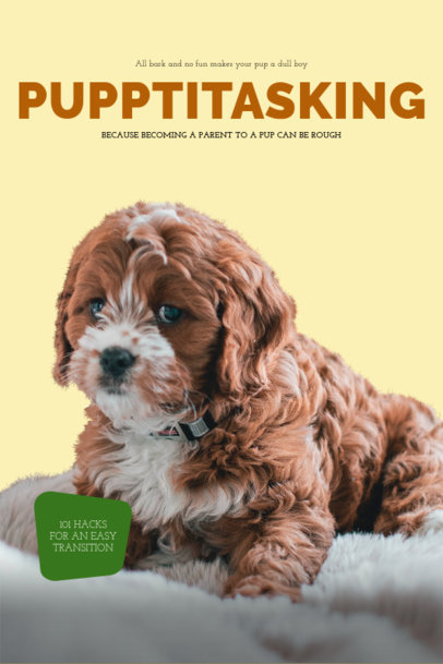Dog Care Hacks Book Cover Template 517c