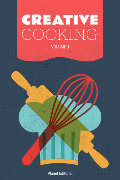 Book Cover Maker for Creative Cooking 547a