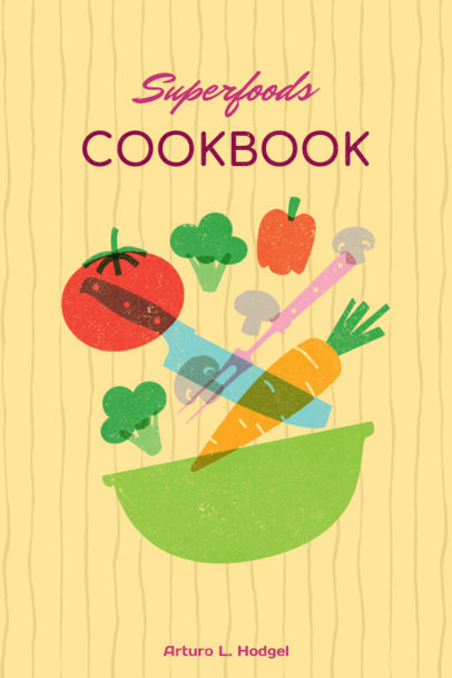Superfoods Cookbook Cover Template 547b