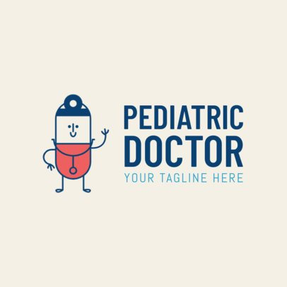 Pediatric Doctor Online Logo Template 1366d