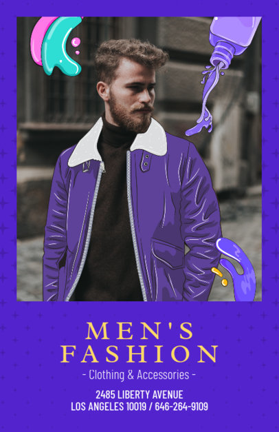 Online Flyer Maker for Men's Fashion Brand 388d