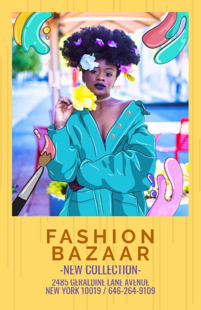 Flyer Template for Fashion Bazar Store 388e