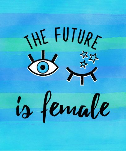 Feminist T-Shirt Template with 2000s Style 9e