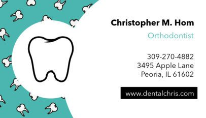 Business Card Template for Orthodontist 560