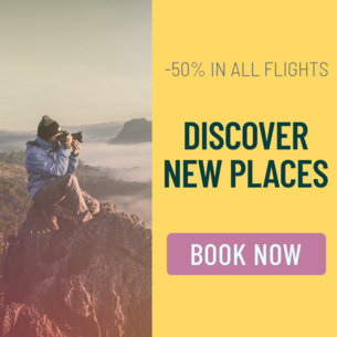 Half Price Travel Deals Banner Ad Maker 542a
