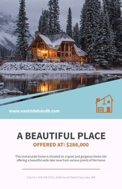 Online Flyer Template for Real Estate Advertising 498c-1819