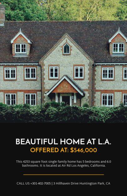 Open House Flyer Template 498d