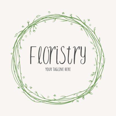 Simple Florist Shop Logo Maker 1384f