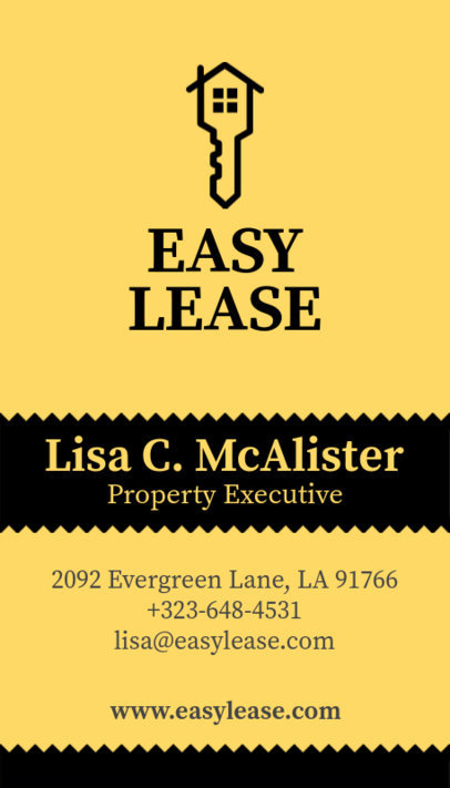 Business Card Maker for Real Estate Executives 497b