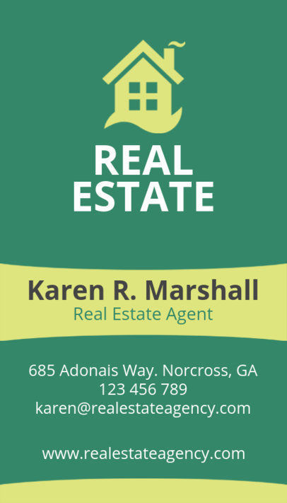 Online Business Card Maker for Real Estate Salesperson 497e