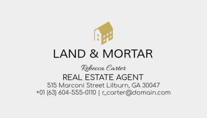 Business Card Maker for Licensed Real Estate Agents 499a