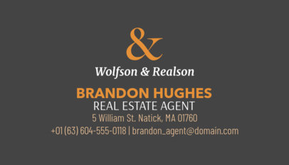 Licensed Realtor Business Card Template 499b
