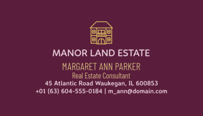 Real Estate Consultant Business Card Maker 499c