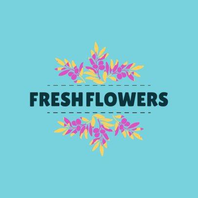 Fresh Logo Maker for Flower Shop 1335e