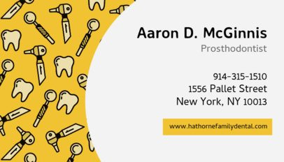 Business Card Template for Prosthodontists 560a