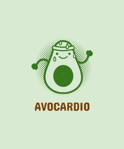 Cardio T-Shirt Design Template 44b