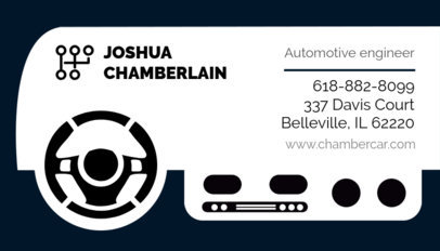 Business Card Template for Automotive Industry Experts 559