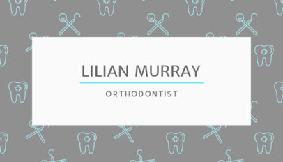 Professional Business Card for Orthodontists 549a