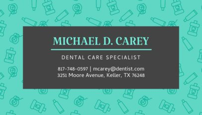 Dentistry Specialist Business Card Maker 549c