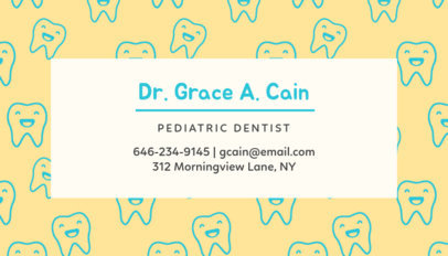 Business Card Maker for Children's Dentist 549d