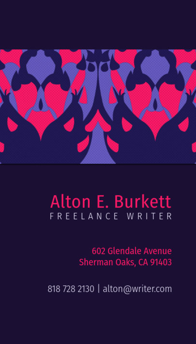 Freelance Writer Business Card Maker 571b