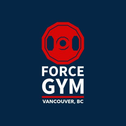 Unisex Gym Logo Template 1347c
