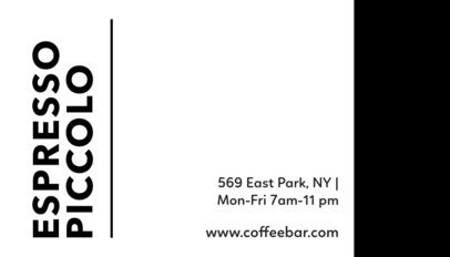Business Card Template with Coffee Bean Graphics 505c