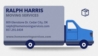Business Card Creator for Moving Companies 556