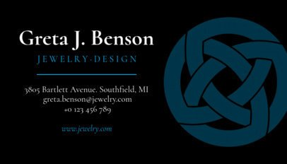 Business Card Template for Jewellery Shops 563