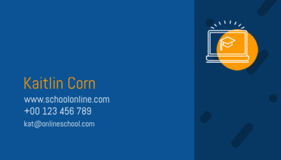 Business Card Template for School Board Reps 574a