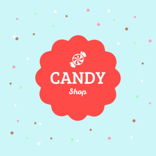 Candy Shop Logo Maker 1389