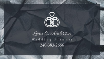 Wedding Planner Business Card Template 85c