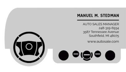Business Card Maker for Car Salesmen 559e