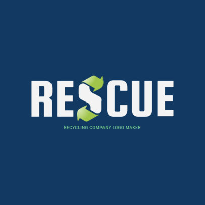 Environmental Recycling Company Logo Maker 1372a