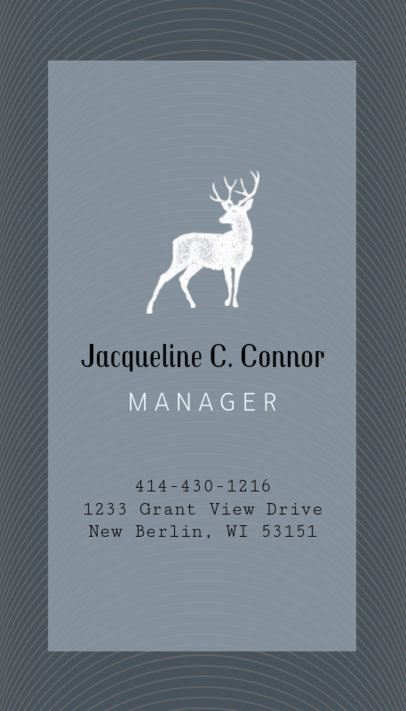 Business Card Creator for Fashion Store Manager 553b