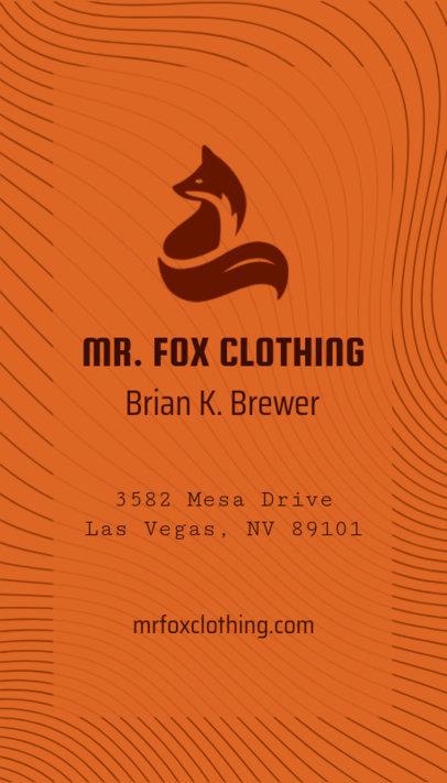 High Fashion Brand Business Card Creator 553e