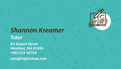 Business Card Maker for Tutors 574e
