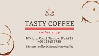 Coffee Shop Business Card Maker With Cool Coffee Stains 570