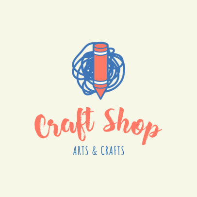 Crafts Shop Logo Creator 1402a