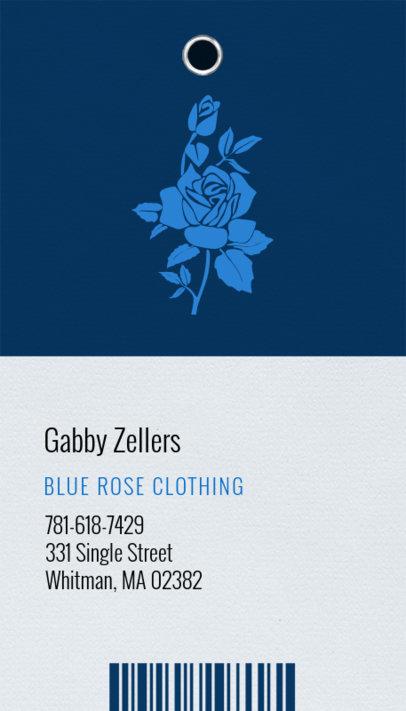 Apparel Brand Business Card Template 550b