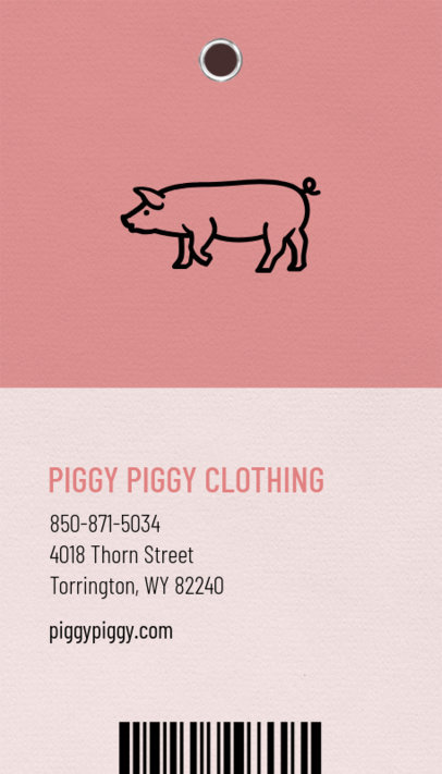 Fashionable Business Card Maker for Apparel Store 550e